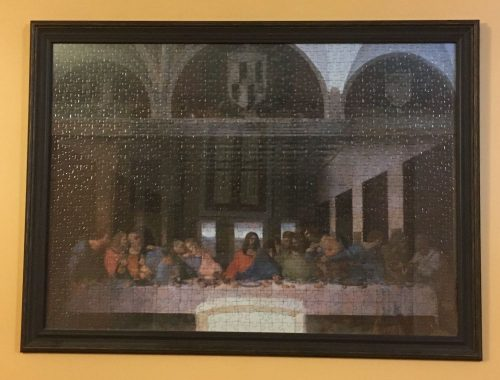 The Last Supper, on the wall